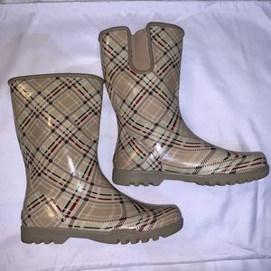 Sperry Top-Sider Nellie Plaid Rain Boots